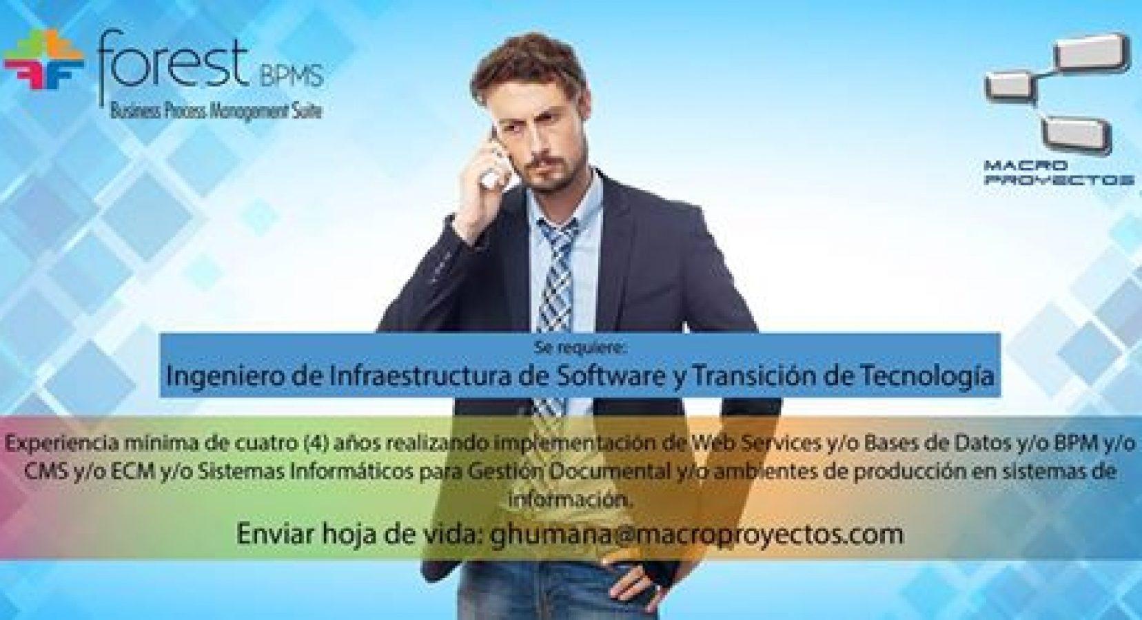 INGENIEROS DE INFRAESTRUCTURA DE SOFTWARE Y TRANSICION